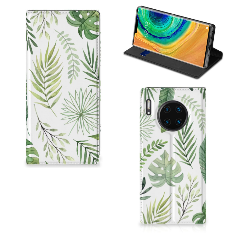 Huawei Mate 30 Pro Smart Cover Leaves