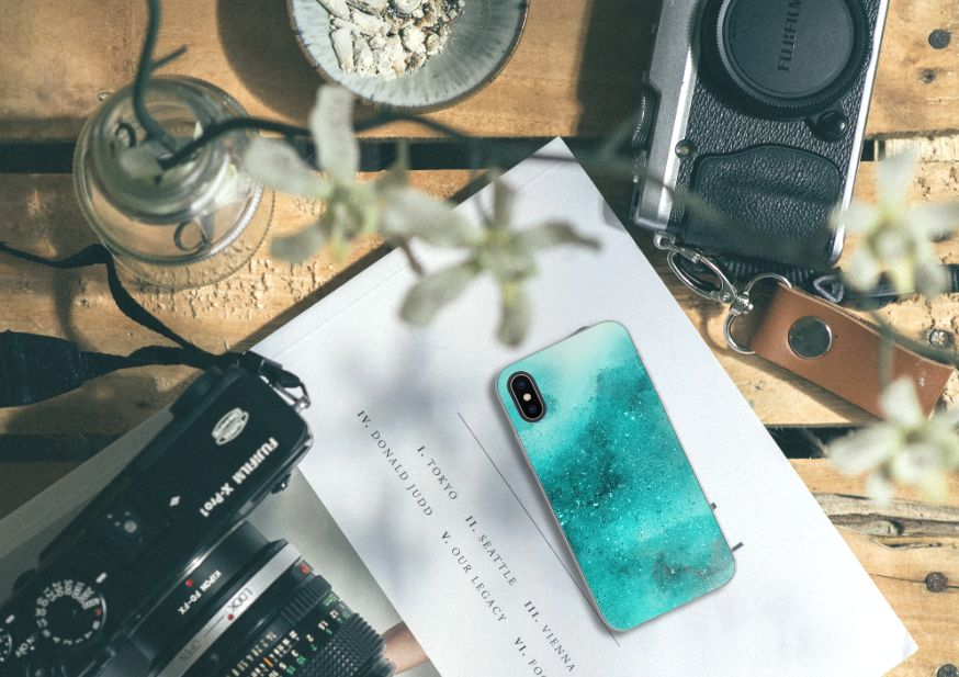 Apple iPhone X | Xs Uniek TPU Hoesje Painting Blue