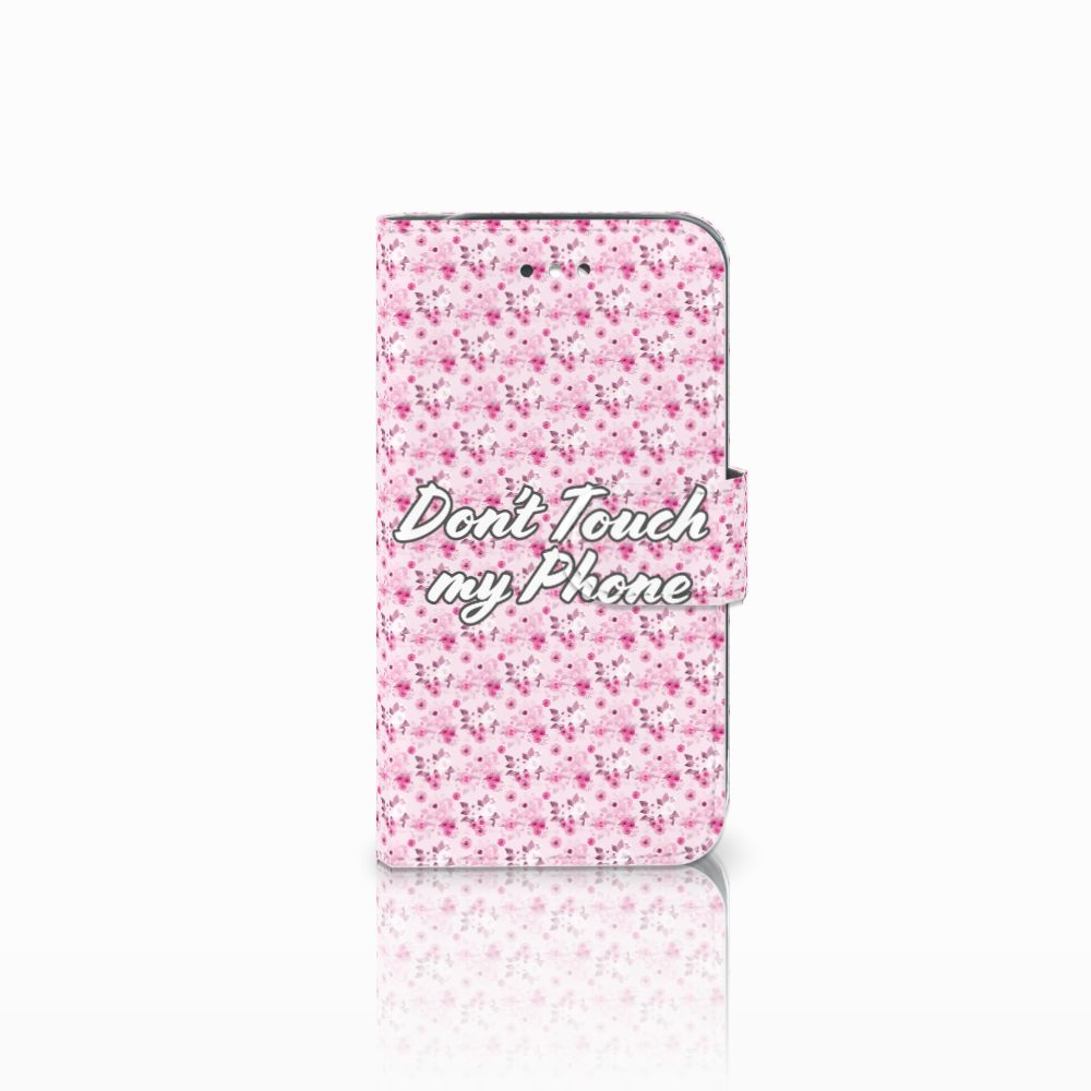 Samsung Galaxy S4 Uniek Boekhoesje Flowers Pink DTMP