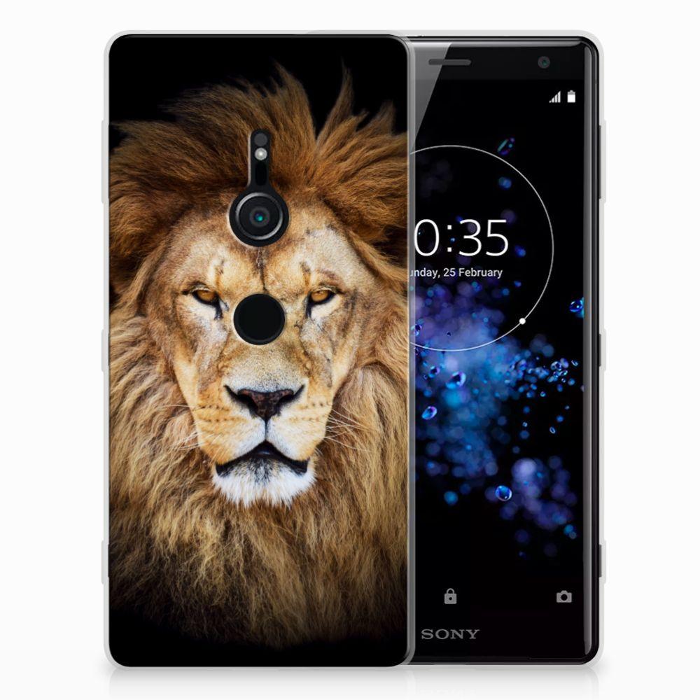 Sony Xperia XZ2 TPU Hoesje Design Leeuw