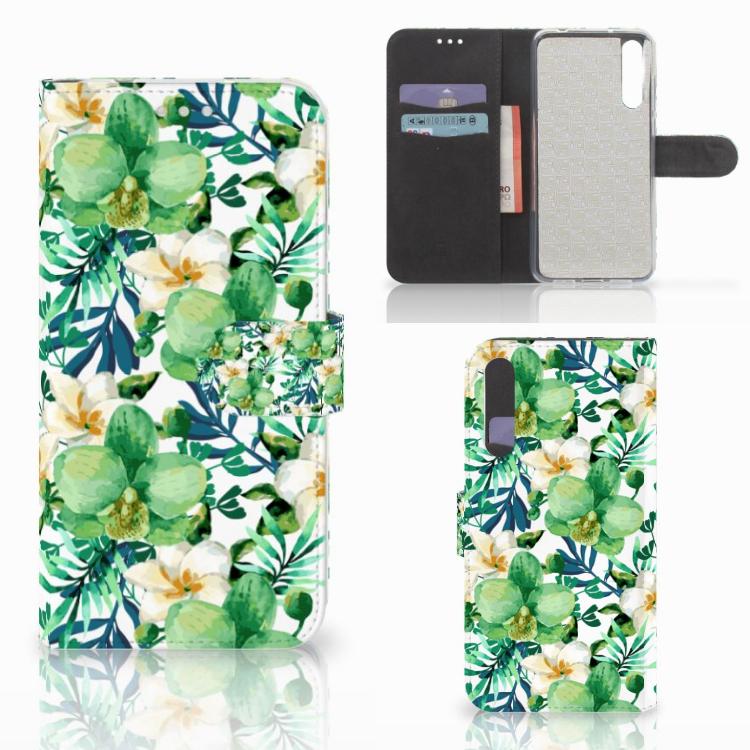 Huawei P20 Pro Hoesje Orchidee Groen
