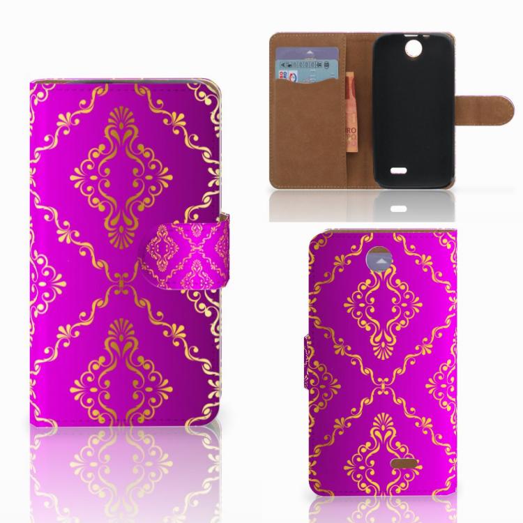 Wallet Case HTC Desire 310 Barok Roze