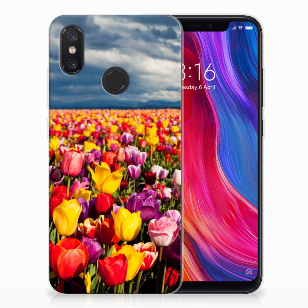 Xiaomi Mi 8 Uniek TPU Hoesje Tulpen