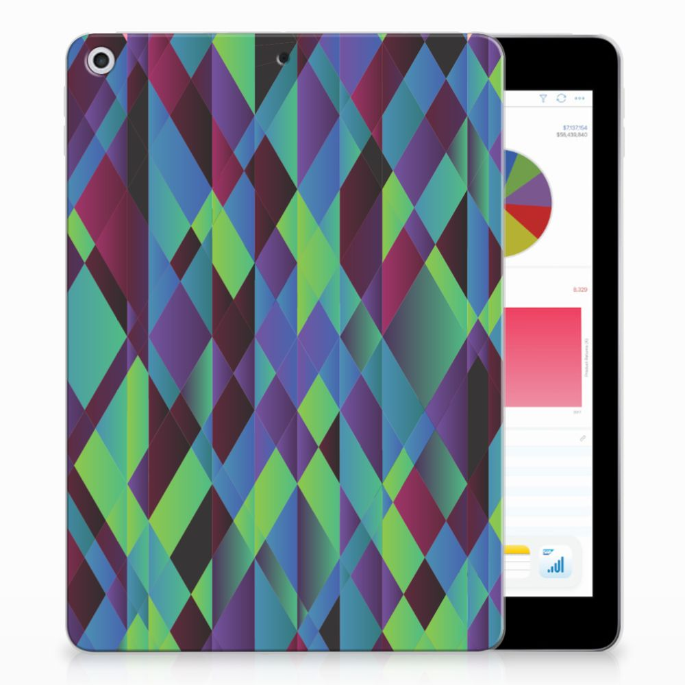 Apple iPad 9.7 2018 | 2017 Back Cover Abstract Green Blue