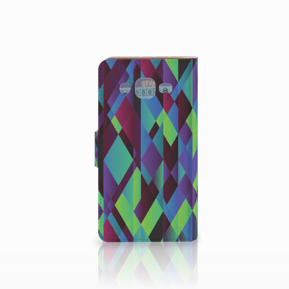 Samsung Galaxy J2 (2015) Bookcase Abstract Green Blue