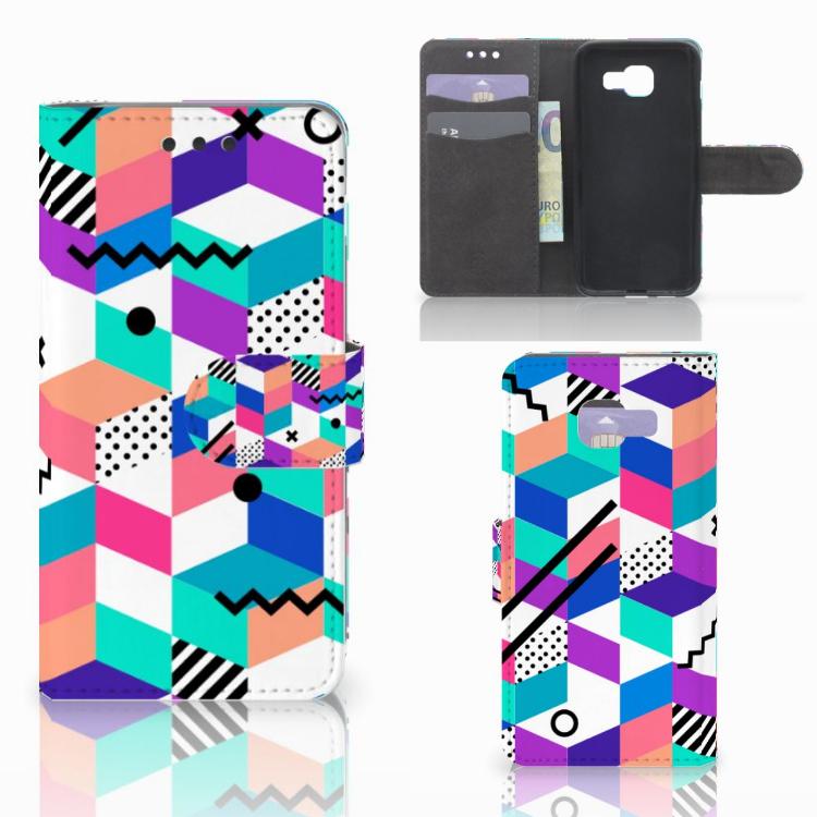 Samsung Galaxy A3 2016 Bookcase Blokken Kleurrijk