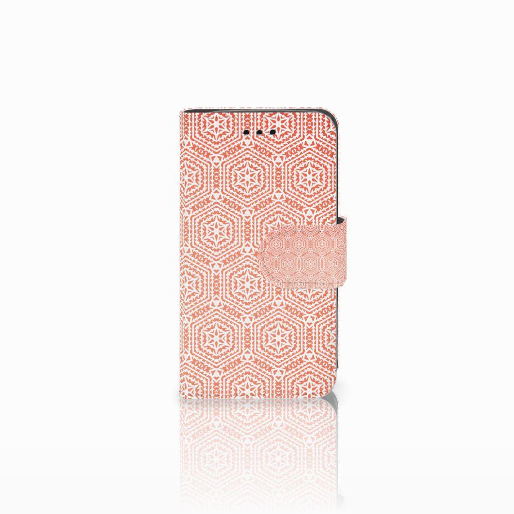 Samsung Galaxy Trend 2 Uniek Boekhoesje Pattern Orange