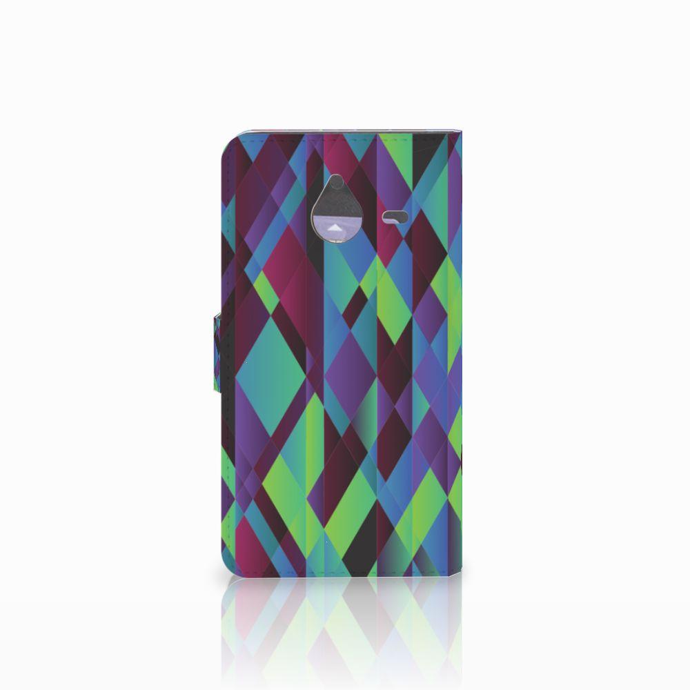Microsoft Lumia 640 XL Bookcase Abstract Green Blue