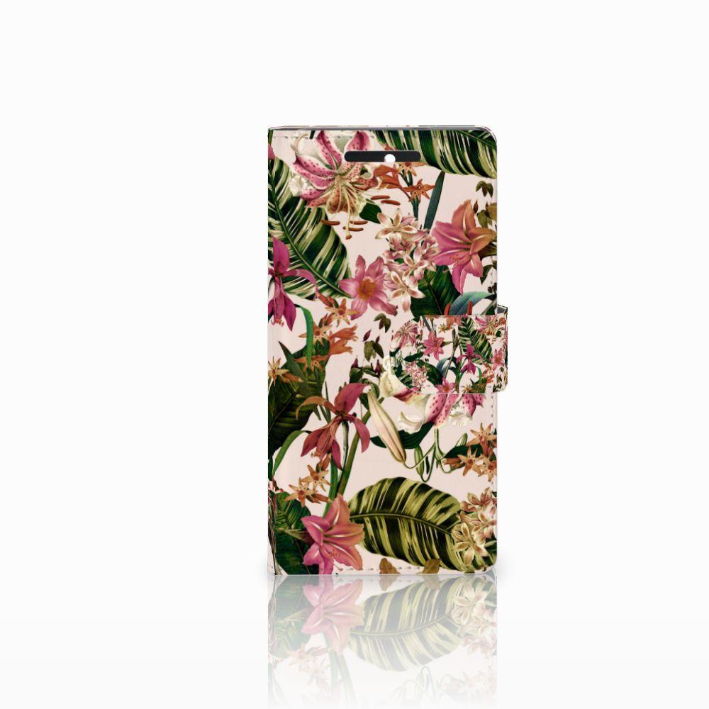 HTC Desire 628 Uniek Boekhoesje Flowers