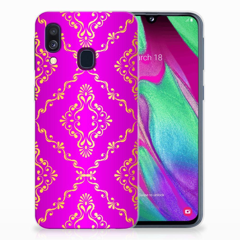 Samsung Galaxy A40 Uniek TPU Hoesje Barok Roze