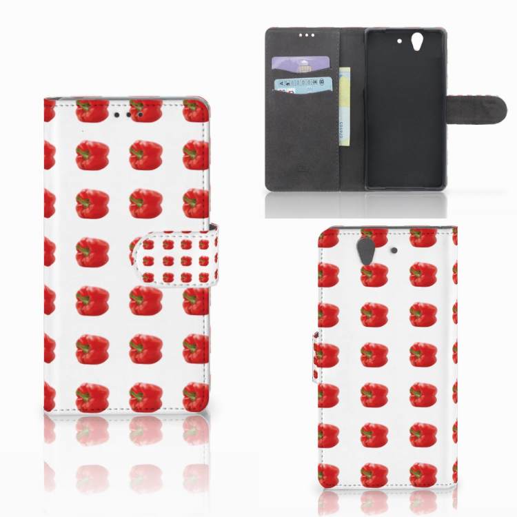 Sony Xperia Z Book Cover Paprika Red
