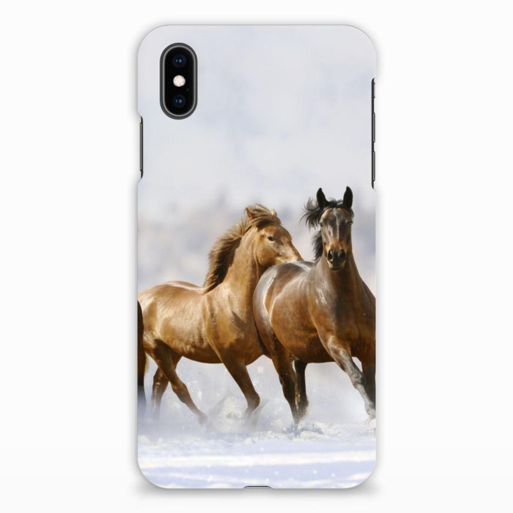 Apple iPhone Xs Max Uniek Hardcase Hoesje Paarden