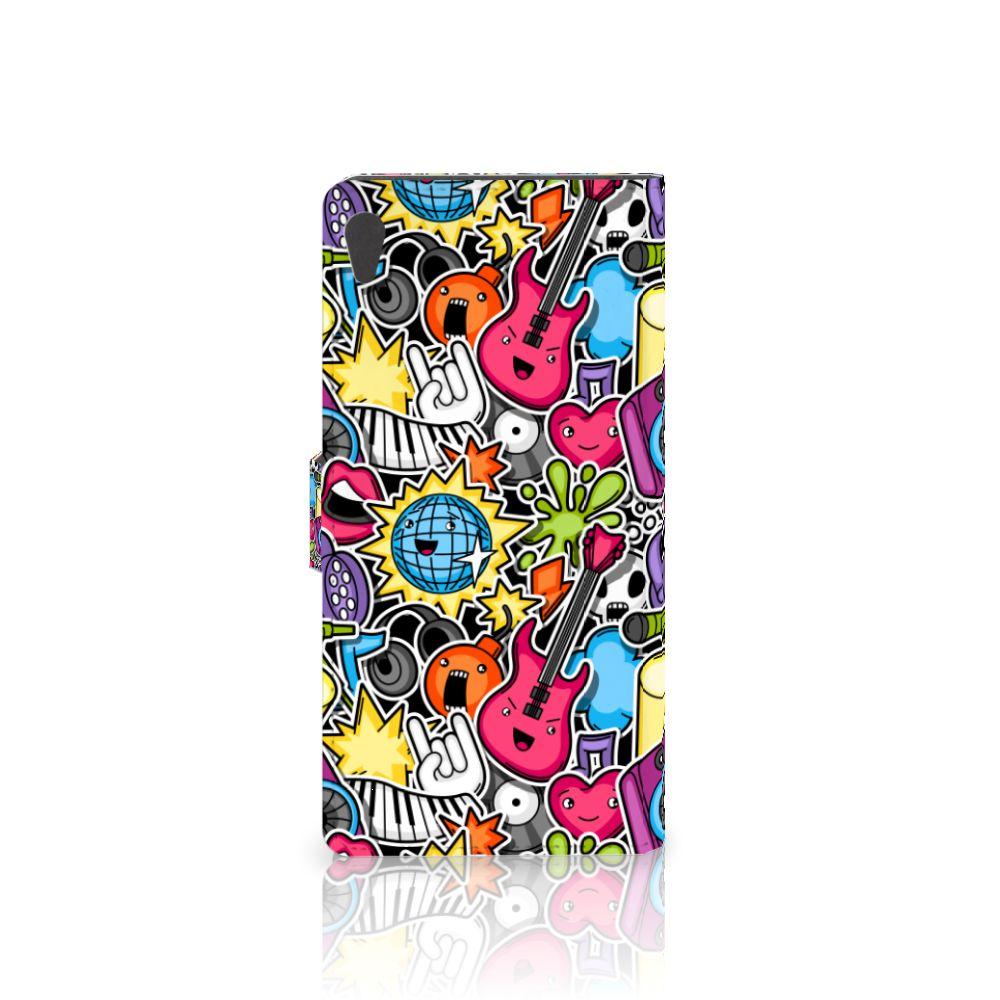 Sony Xperia XA Ultra Wallet Case met Pasjes Punk Rock