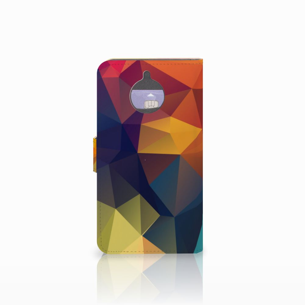 Motorola Moto E4 Plus Bookcase Polygon Color