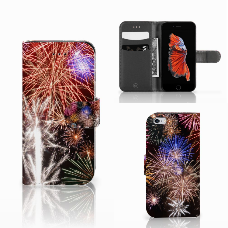 Apple iPhone 6 | 6s Wallet Case met Pasjes Vuurwerk