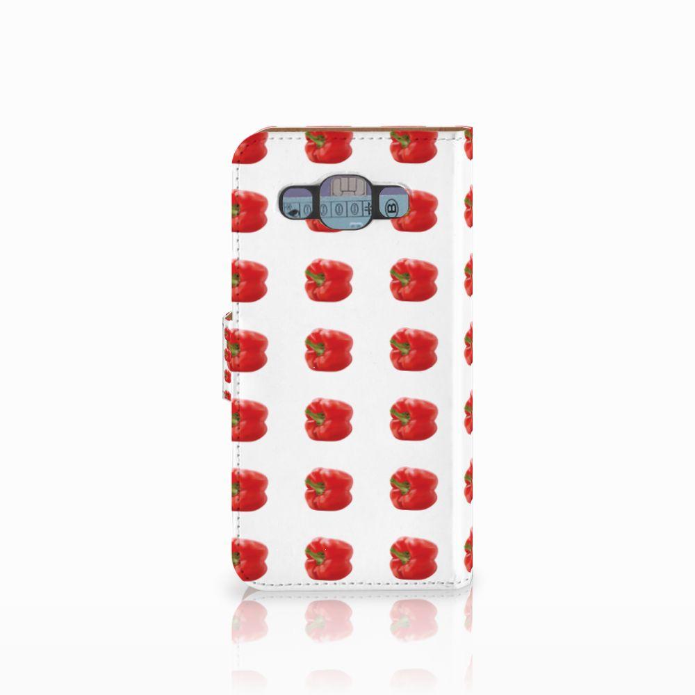 Samsung Galaxy E5 Book Cover Paprika Red