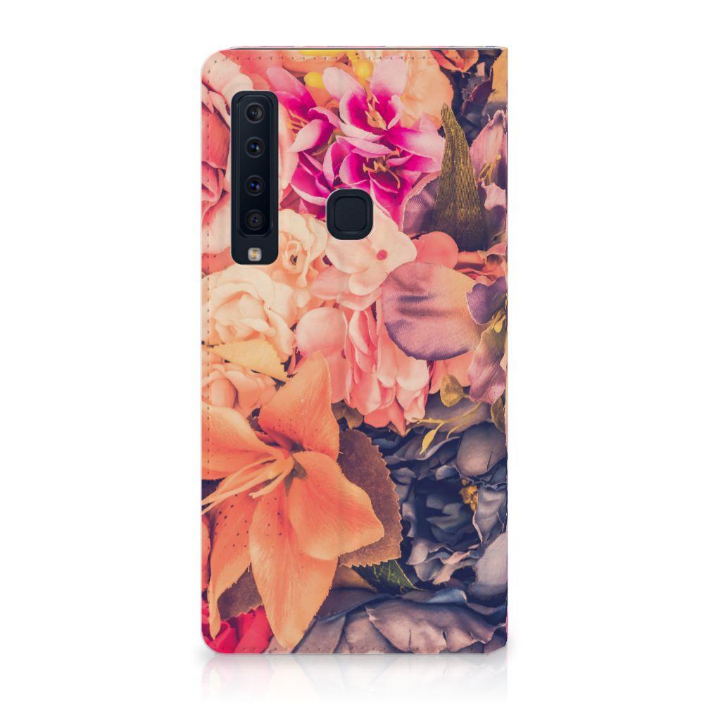 Samsung Galaxy A9 (2018) Standcase Hoesje Design Bosje Bloemen