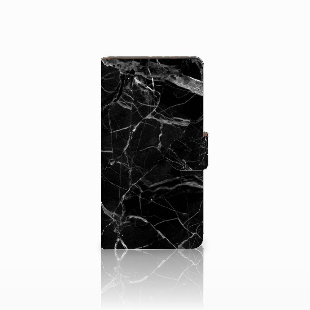 Huawei Ascend G700 Uniek Boekhoesje Marmer Zwart