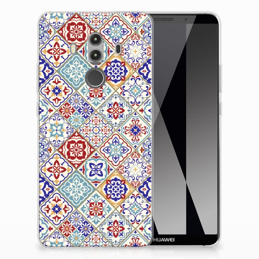 Huawei Mate 10 Pro Uniek TPU Hoesje Tiles Color