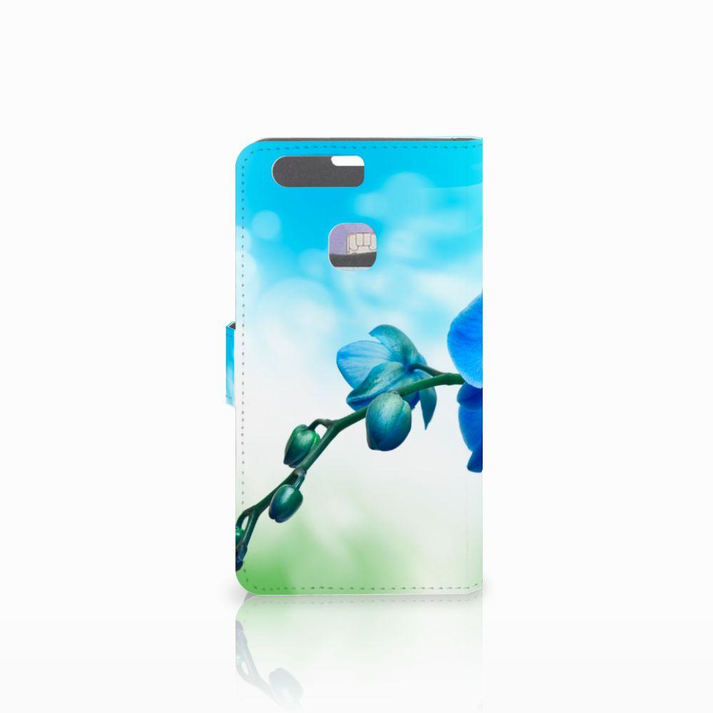 Huawei P9 Plus Hoesje Orchidee Blauw