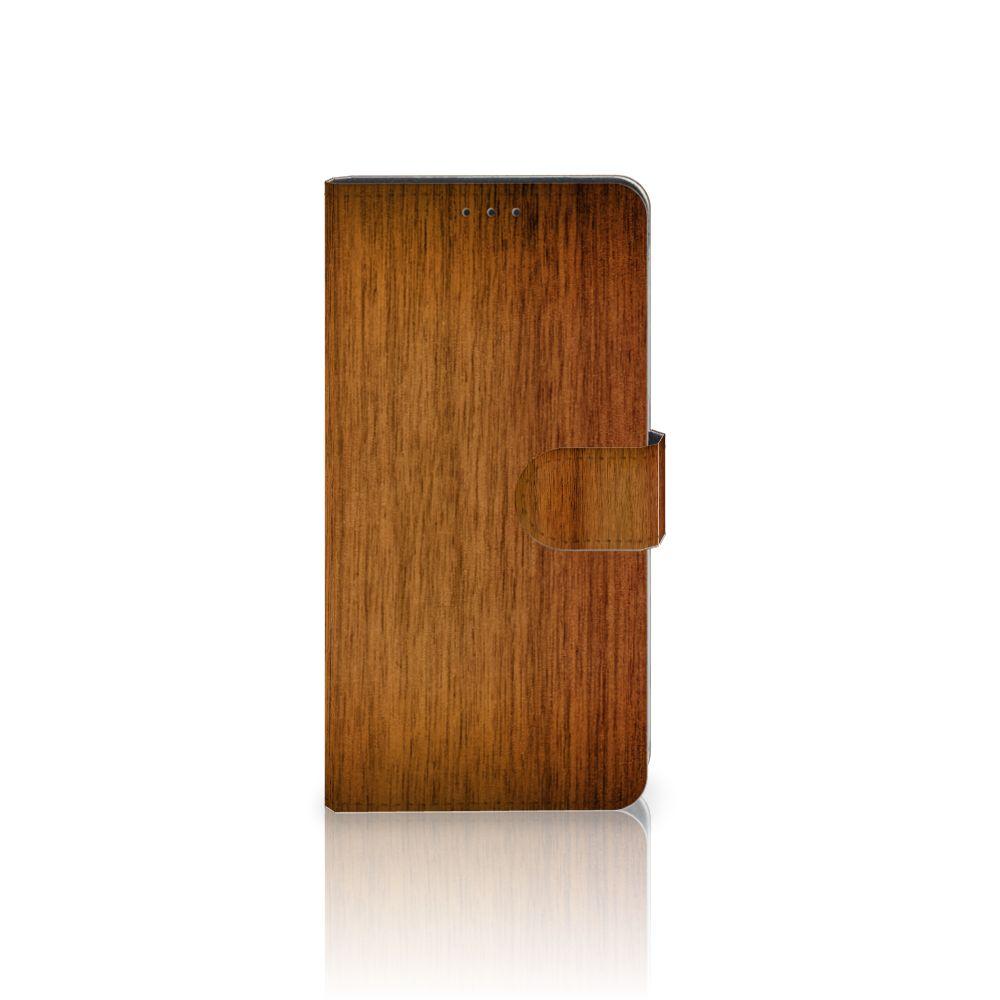 Samsung Galaxy A7 (2018) Uniek Boekhoesje Donker Hout