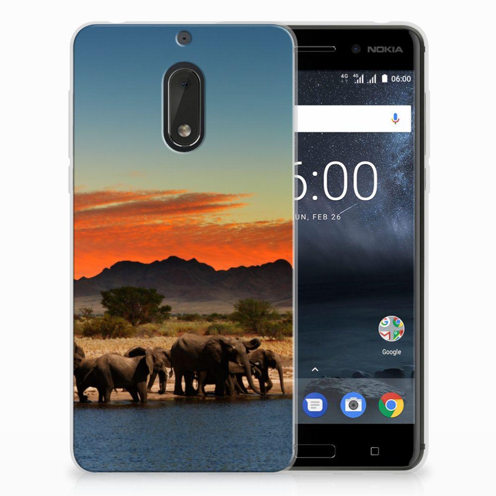 Nokia 6 TPU Hoesje Design Olifanten