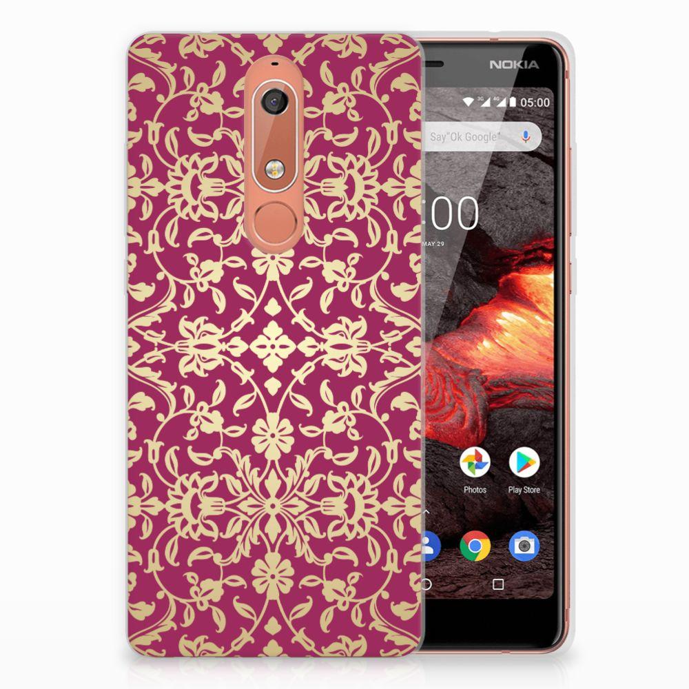 Siliconen Hoesje Nokia 5.1 (2018) Barok Pink