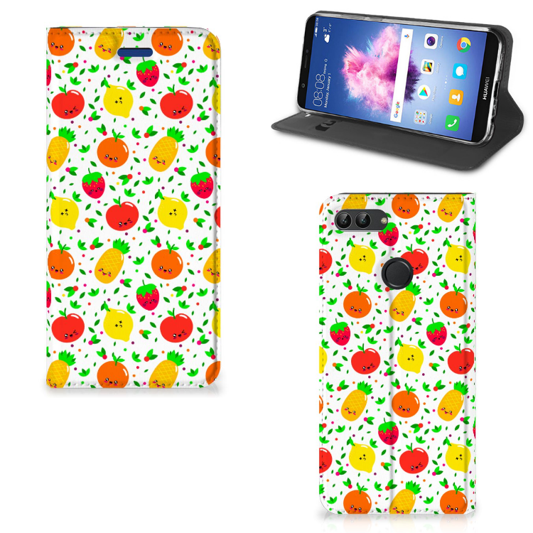 Huawei P Smart Flip Style Cover Fruits