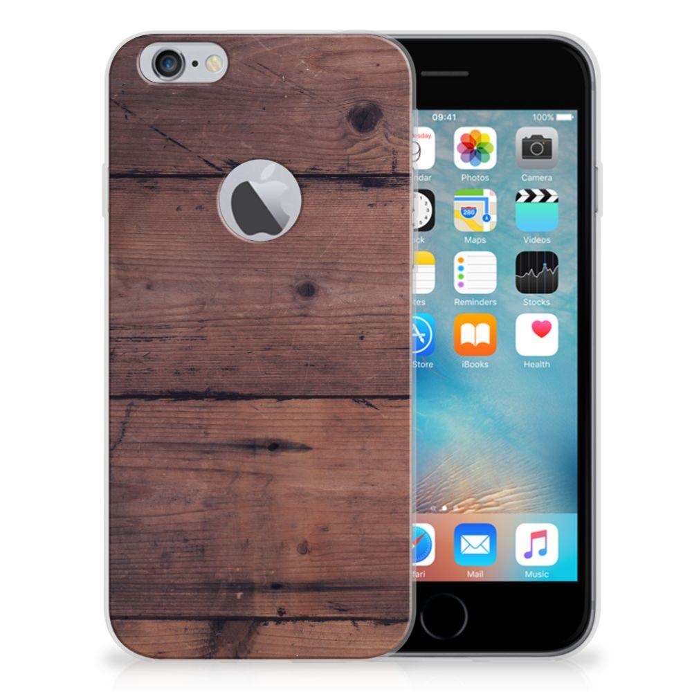 Apple iPhone 6 Plus   6s Plus Bumper Hoesje Old Wood