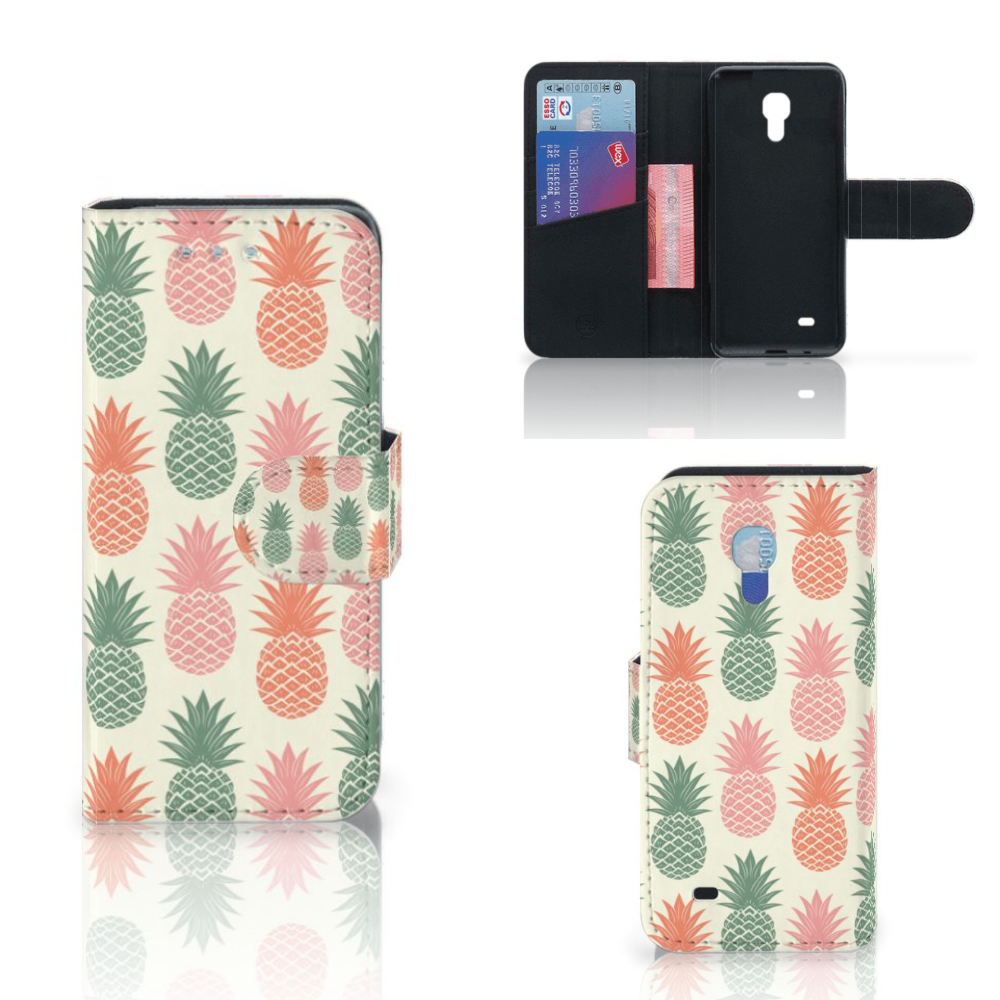 Samsung Galaxy S4 Mini i9190 Book Cover Ananas