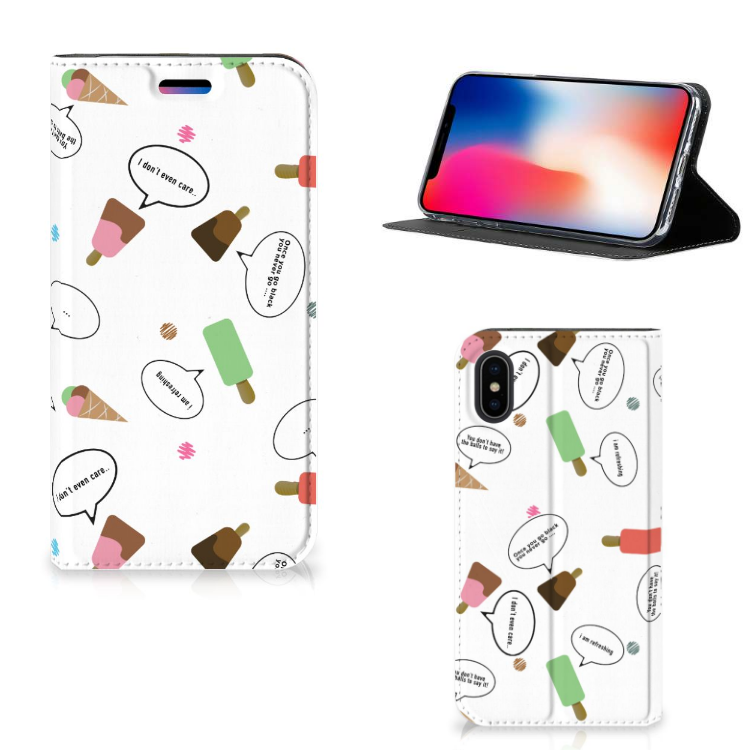 Apple iPhone X | Xs Flip Style Cover IJsjes