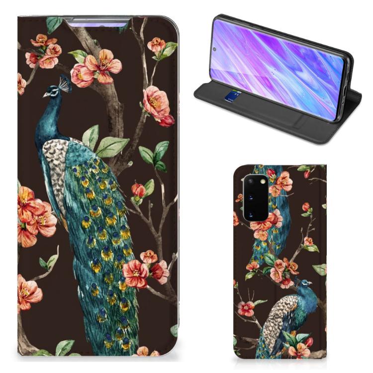 Samsung Galaxy S20 Hoesje maken Pauw met Bloemen