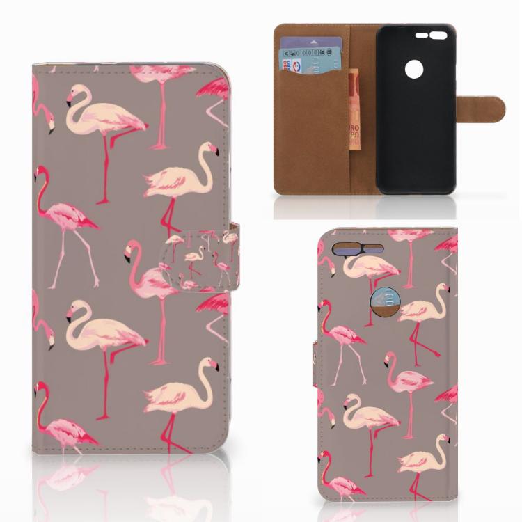 Google Pixel XL Telefoonhoesje met Pasjes Flamingo