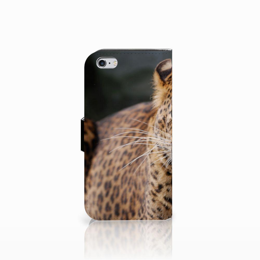 Apple iPhone 6 | 6s Telefoonhoesje met Pasjes Luipaard