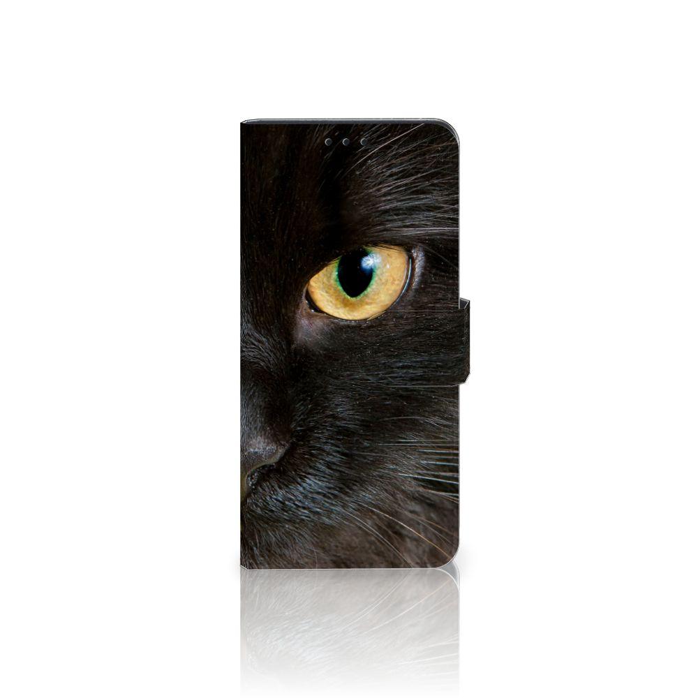 Motorola Moto G6 Plus Uniek Boekhoesje Zwarte Kat