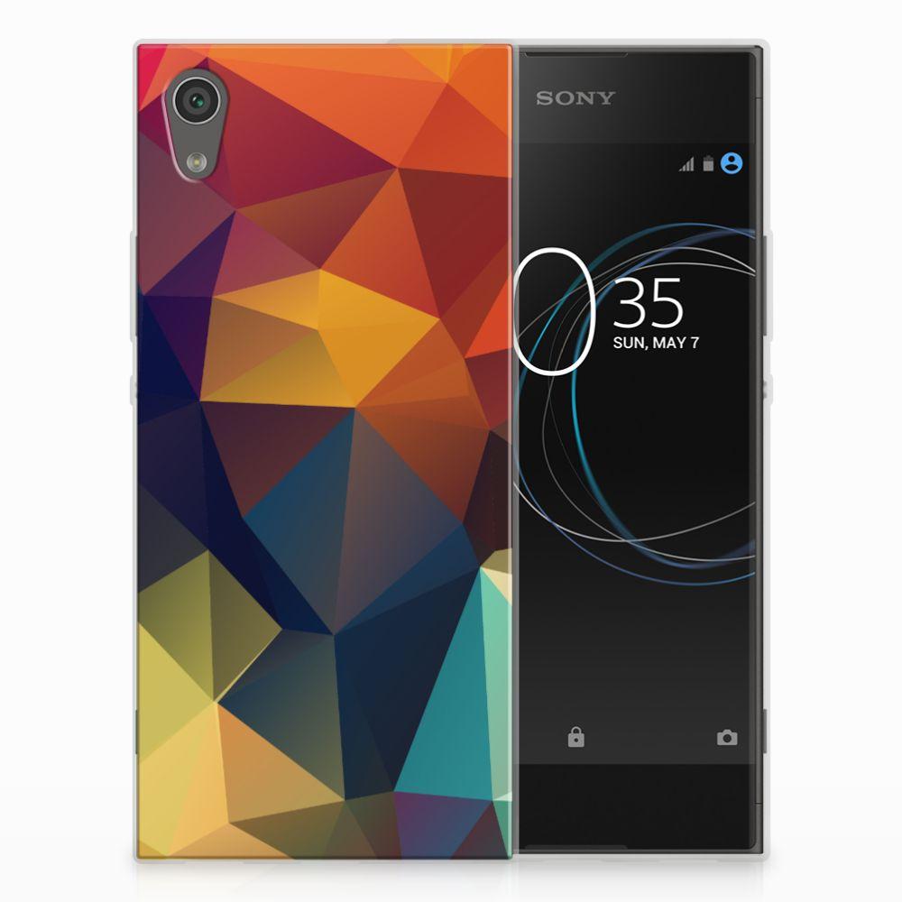 Sony Xperia XA1 TPU Hoesje Polygon Color