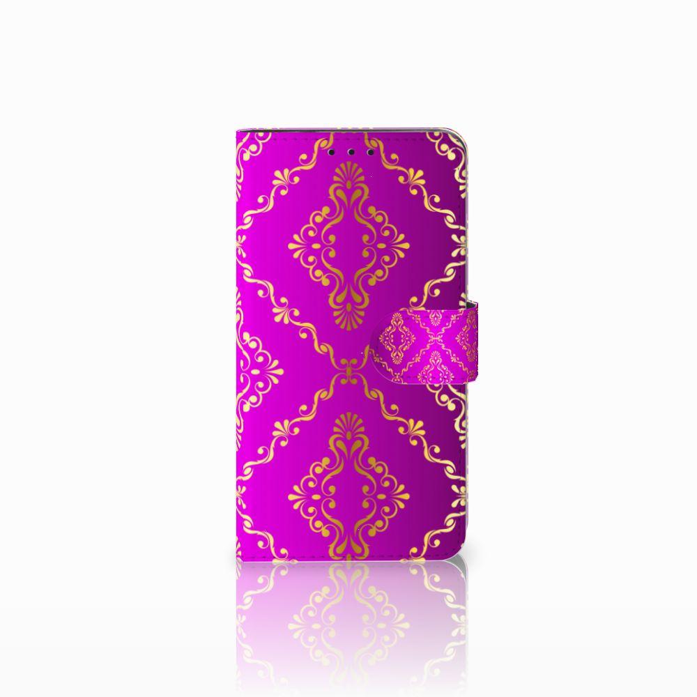 Huawei Honor 6X Uniek Boekhoesje Barok Roze