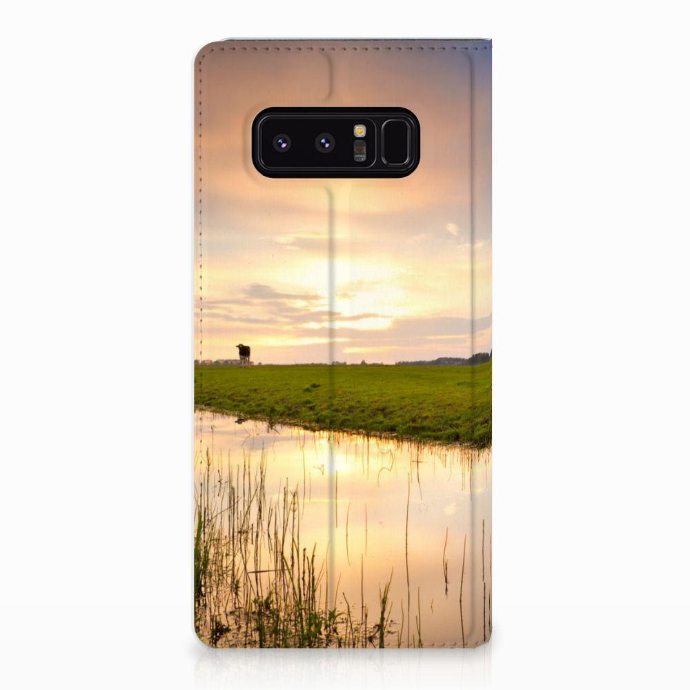 Samsung Galaxy Note 8 Standcase Hoesje Design Koe