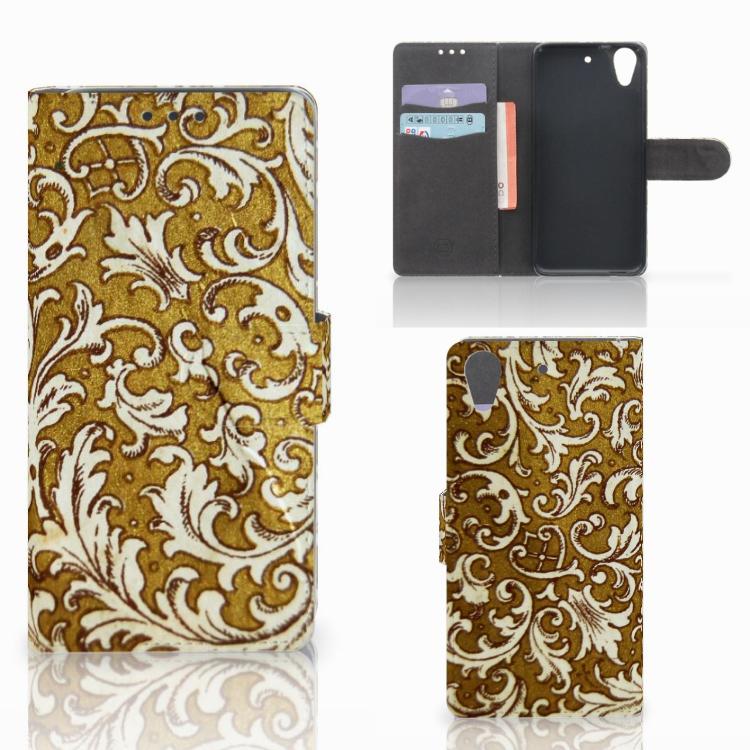Wallet Case HTC Desire 626 | Desire 626s Barok Goud