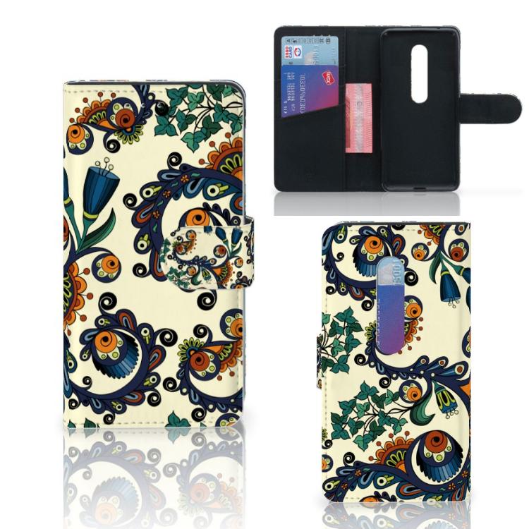 Wallet Case Motorola Moto G 3e Generatie Barok Flower