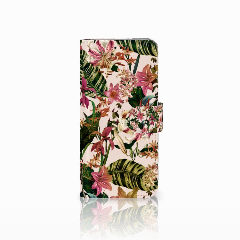 Samsung Galaxy J6 2018 Uniek Boekhoesje Flowers