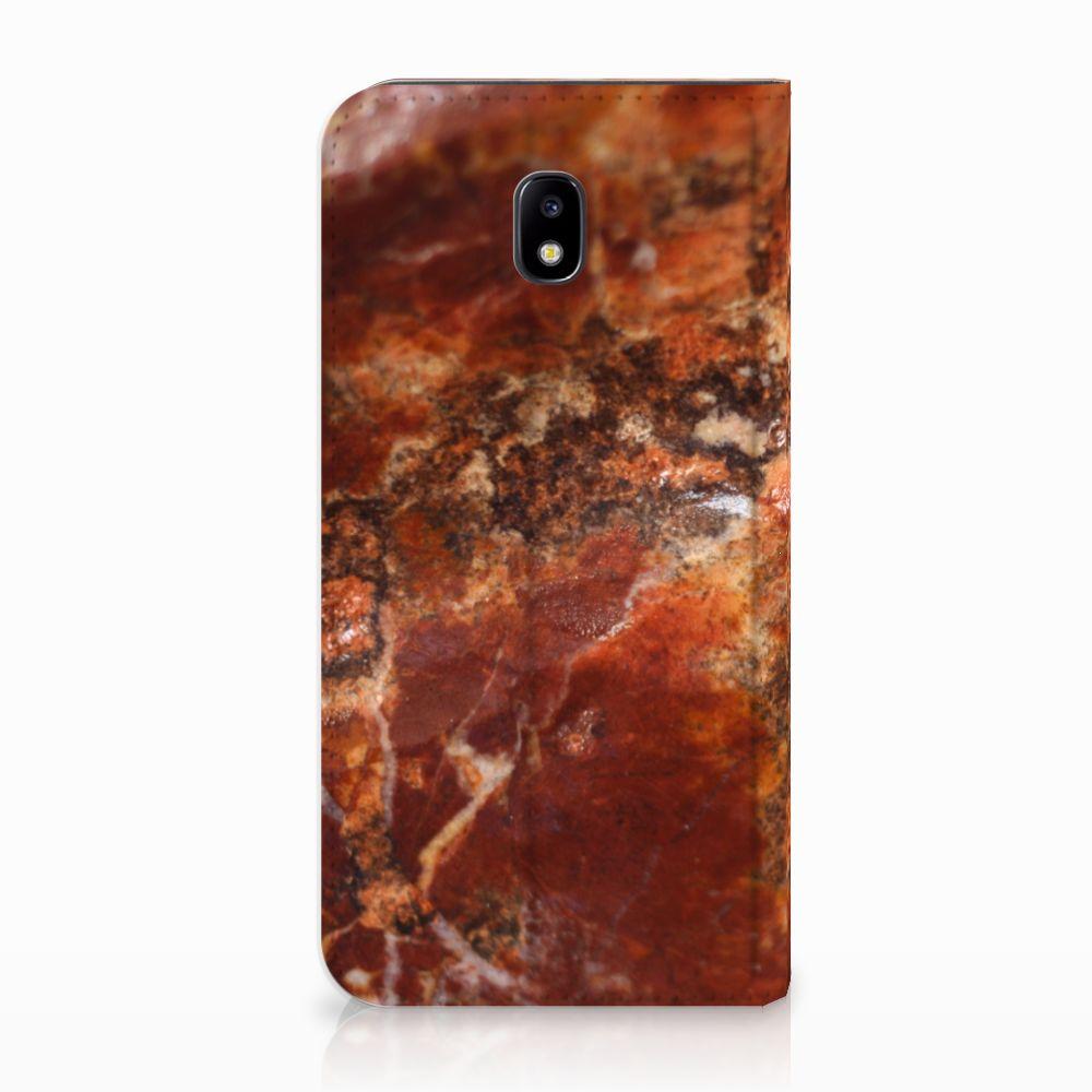 Samsung Galaxy J5 2017 Standcase Hoesje Design Marmer Bruin