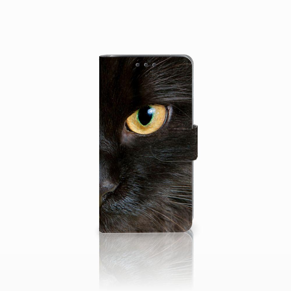 Samsung Galaxy J5 (2015) Uniek Boekhoesje Zwarte Kat