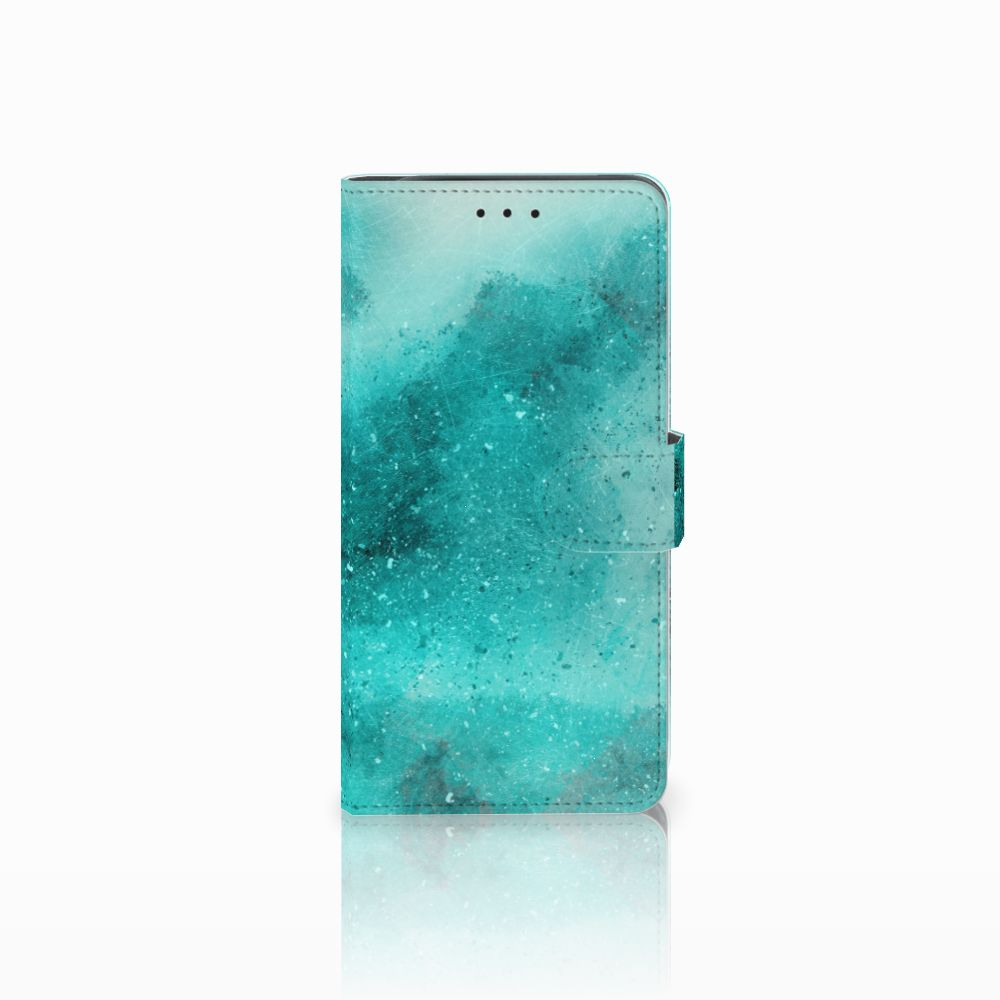 Hoesje Samsung Galaxy J6 Plus (2018) Painting Blue