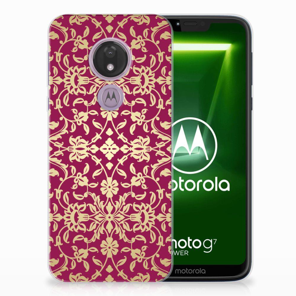 Siliconen Hoesje Motorola Moto G7 Power Barok Pink