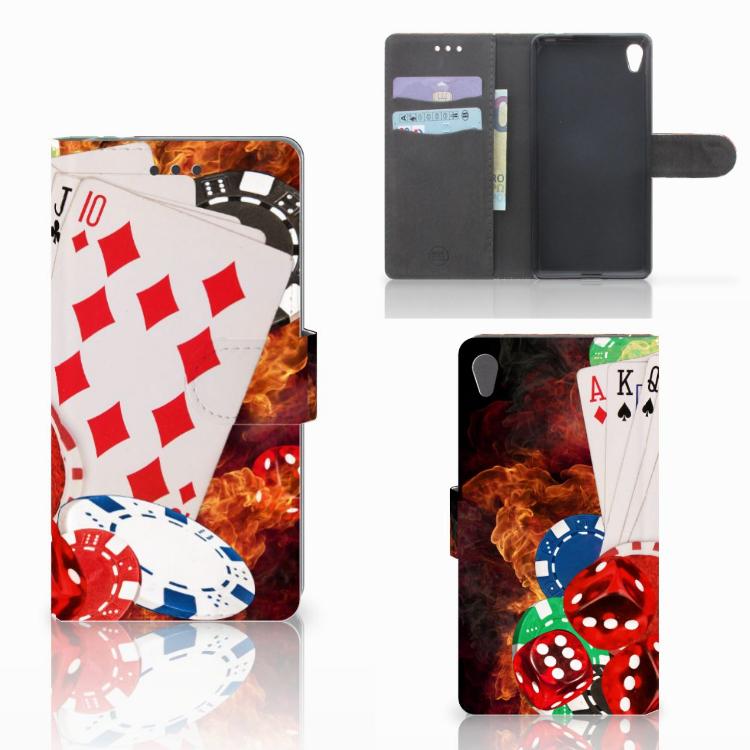 Sony Xperia E5 Wallet Case met Pasjes Casino