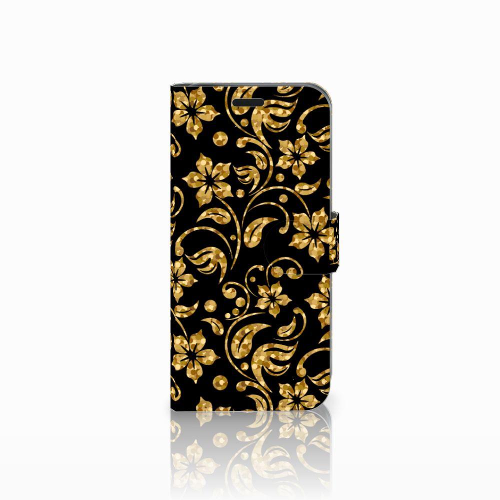 Acer Liquid Z630 | Z630s Boekhoesje Design Gouden Bloemen