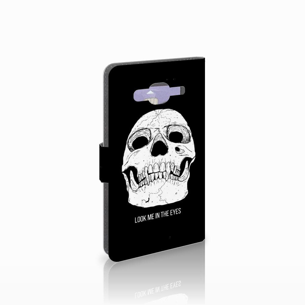 Samsung Galaxy J5 (2015) Uniek Boekhoesje Skull Eyes