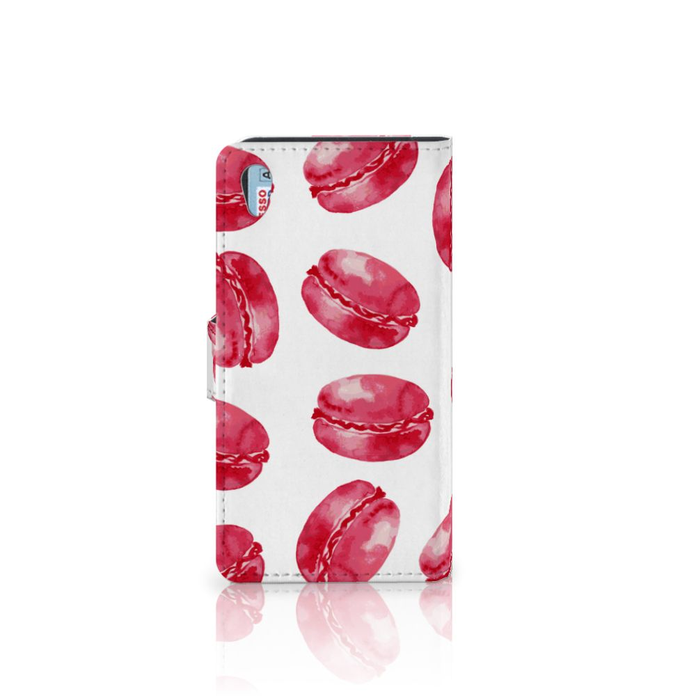 Sony Xperia Z2 Book Cover Pink Macarons