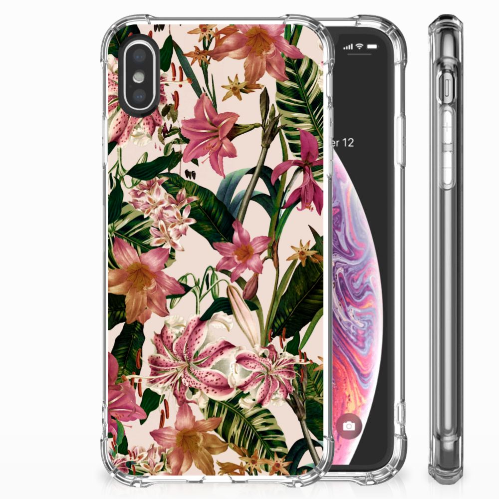 Apple iPhone X | Xs Uniek TPU Hoesje Flowers